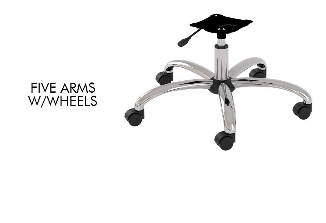 Five arms w/wheels