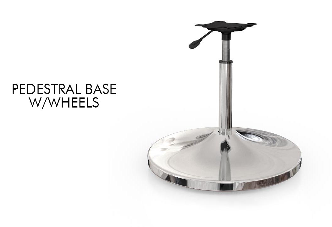 Pedestral Base W/Wheels